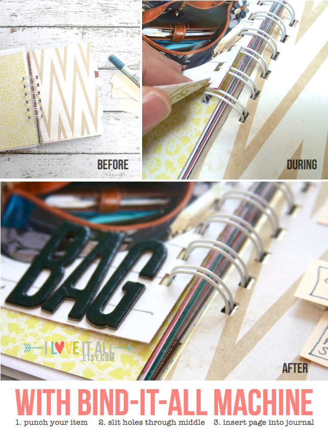 #tutorial #bind it all #notebook #scrapbooking #mini album #journal