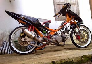 Foto Modifikasi Honda Beat Drag Style