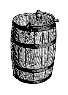 wooden barrel vintage image