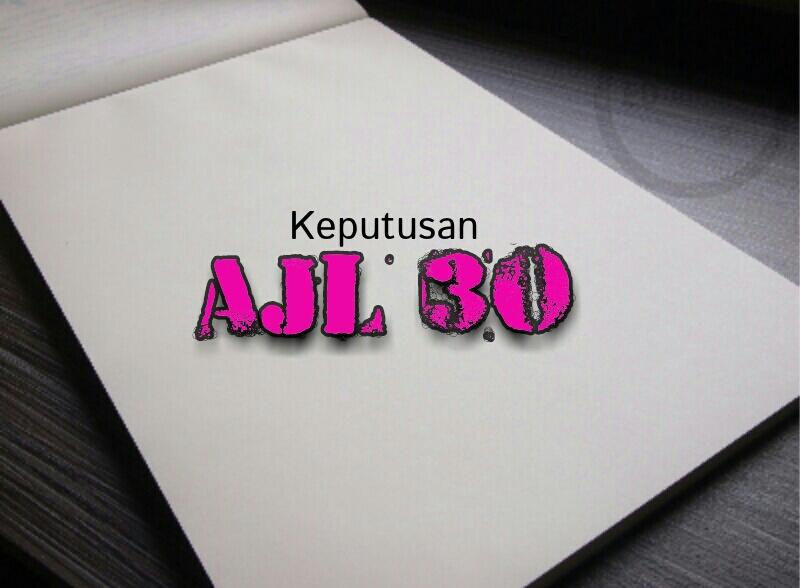 Keputusan Penuh Anugerah Juara Lagu (AJL) 30