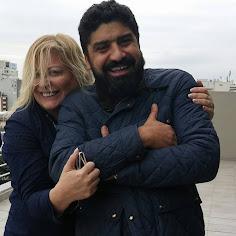 Silvia Barton y el enólogo Karim Mussi Saffie