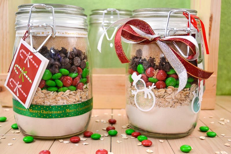 Oishii Treats M M Christmas Cookies In A Jar