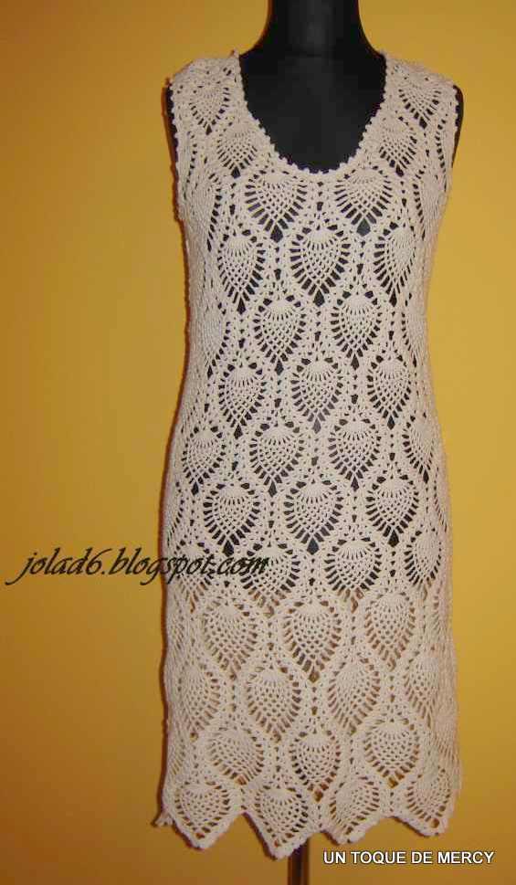 Un toque de mercy: vestidos de crochet con graficos....