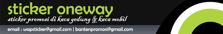 Sticker Oneway Tangerang
