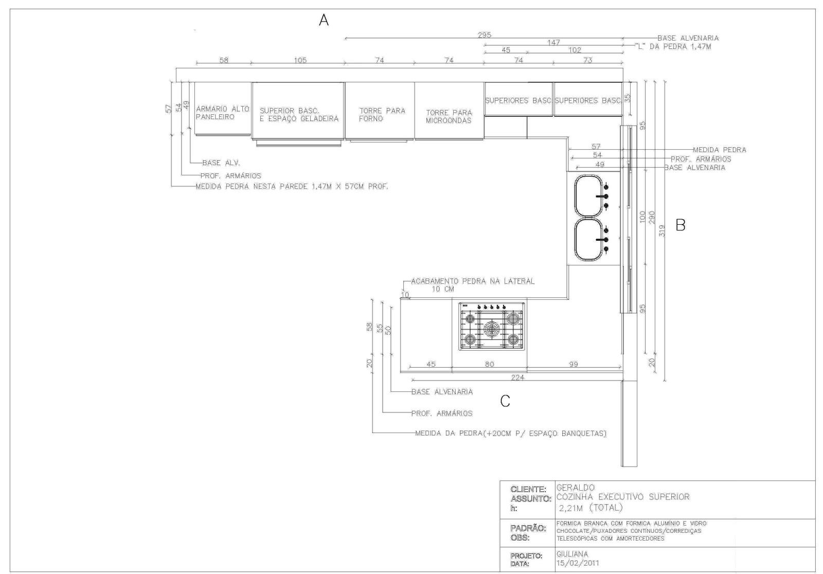 Design de interiores: PROJETO EXECUTIVO COTADO #3A3A3A 1600 1116