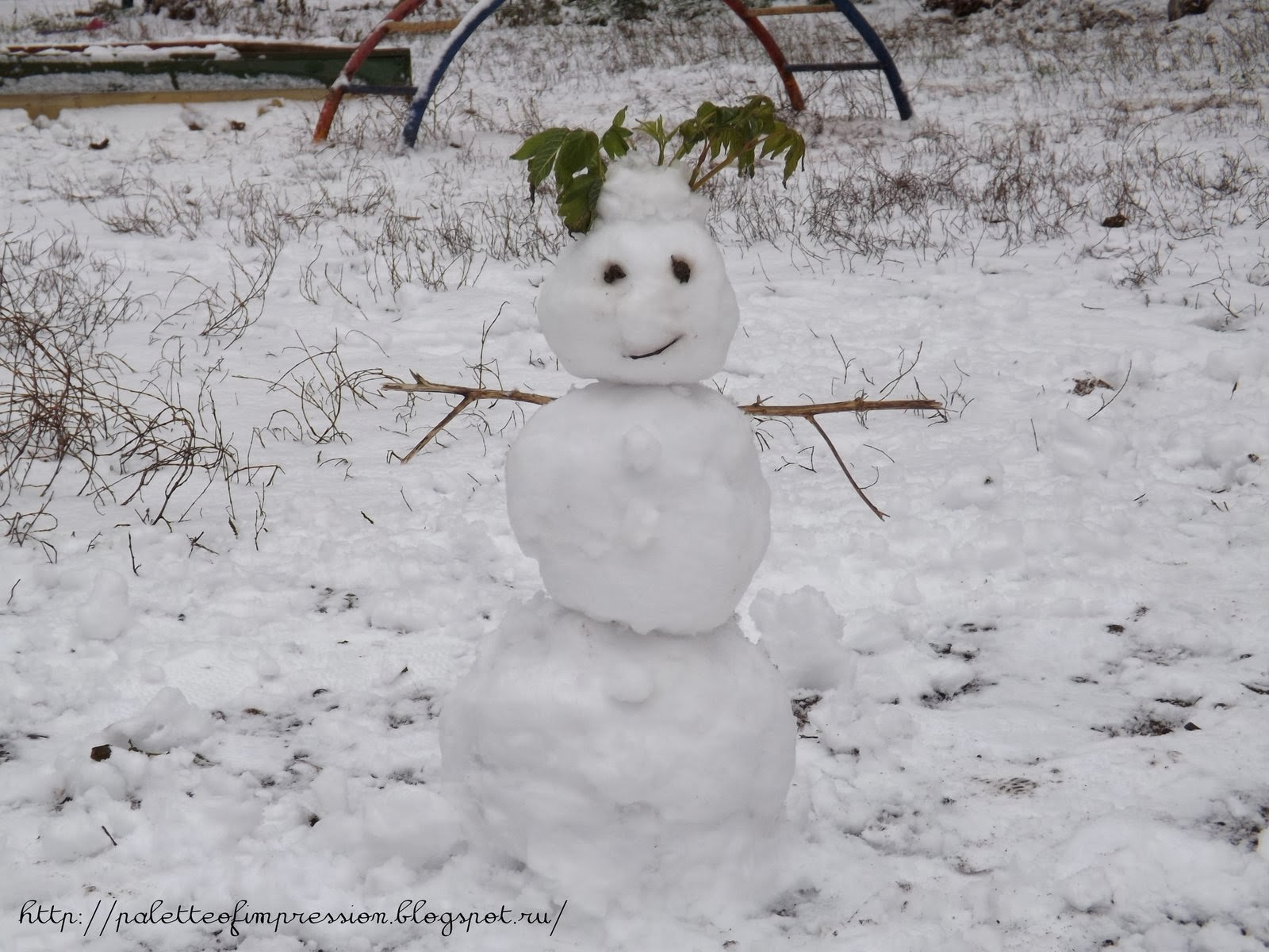 Зима 2013-2014. Снеговики. Ижевск. Блог Вся палитра впечатлений.