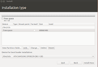 Partitioning harddisk on Ubuntu 12.04 installation process