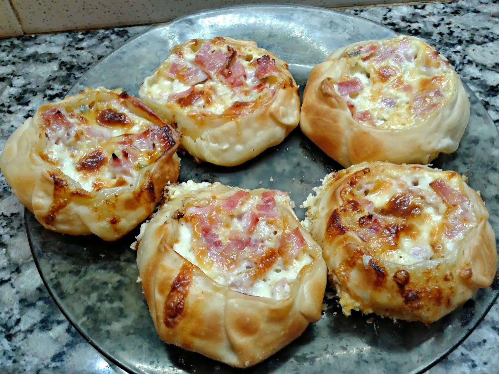 Canastitas de jam n queso y verdeo caserissimo for Canape de jamon y queso
