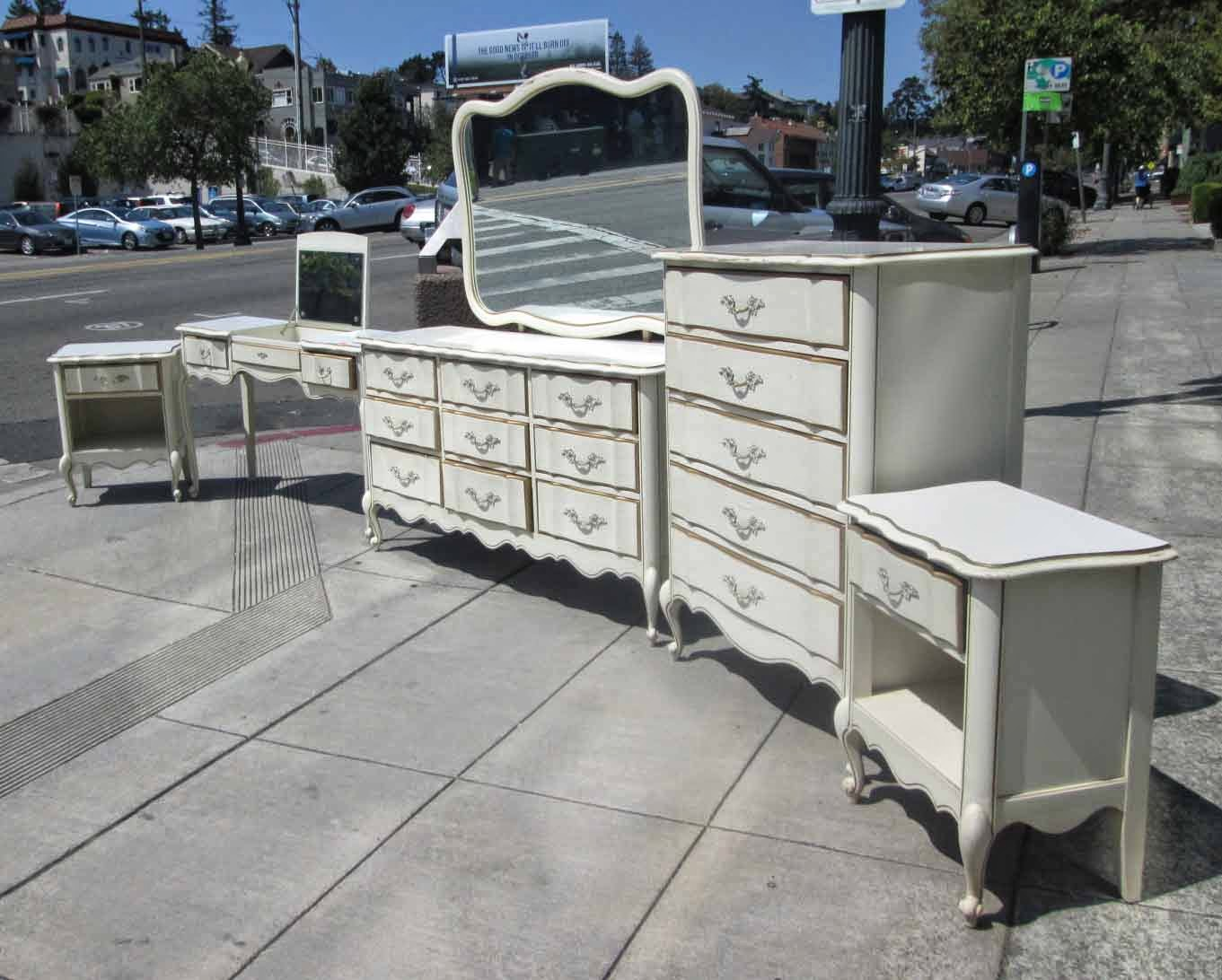 Uhuru Furniture Collectibles Sold French Provincial Bedroom Set Pieces Sold Separately