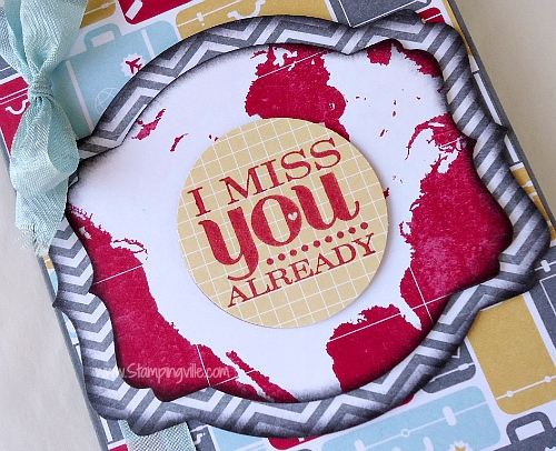 Miss You sentiment with die-cut Deco Labels (framelits)