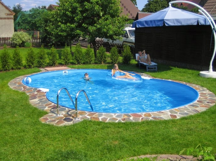 Pool Deck Design Ideas Trendy Backyard Rectangular Pool Photo In