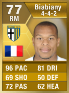 Jonathan Biabiany 77 - FIFA 13 Ultimate Team Card - FUT 13