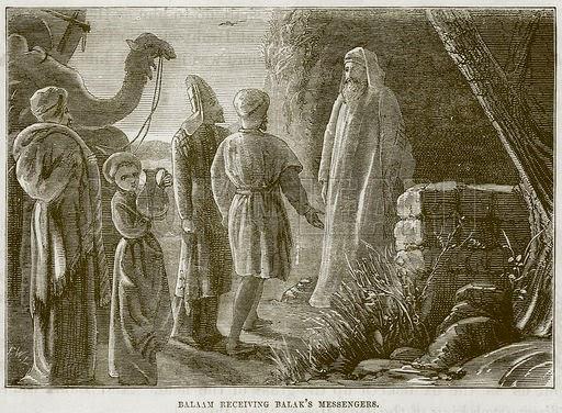Balaam Receiving Balak's Messengers - From The Child's Bible, Cassel