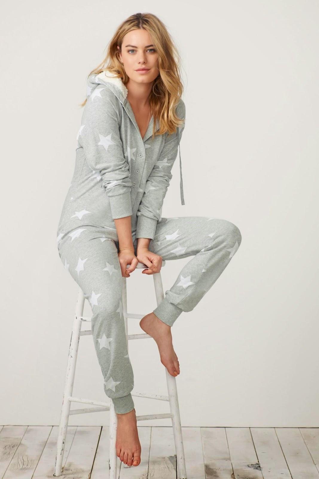 Next Sleepwear Fall/Winter 2014 Lookbook starring Camille Rowe