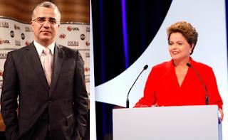 Kennedy Alencar e Dilma Rousseff – Foto: Lourival Ribeiro