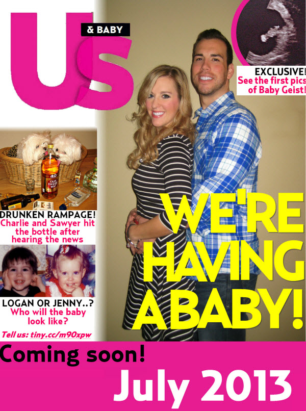 Tabloid Baby Announcement - Funny Pregnancy Announcement Creative
