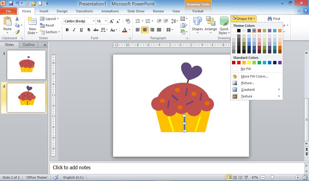 cupcake, hiasan powerpoint
