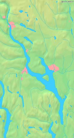 Kart over Mjøsa
