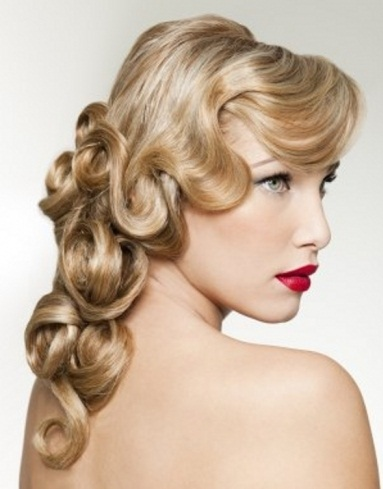 Old Hollywood Curly Hair Style 2014