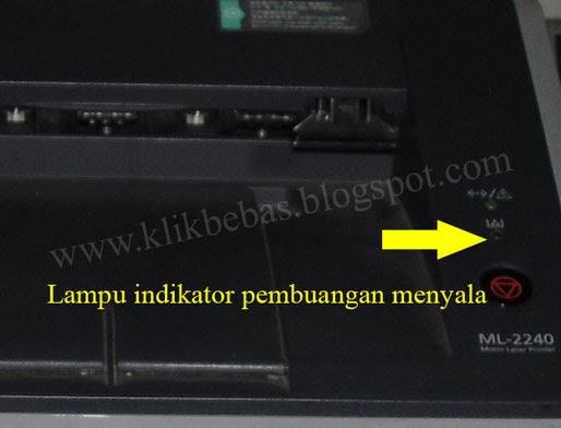 reset Printer Samsung ML 2240 tanpa Jamper.