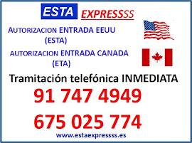 Formulario ESTA Estados Unidos Canadá