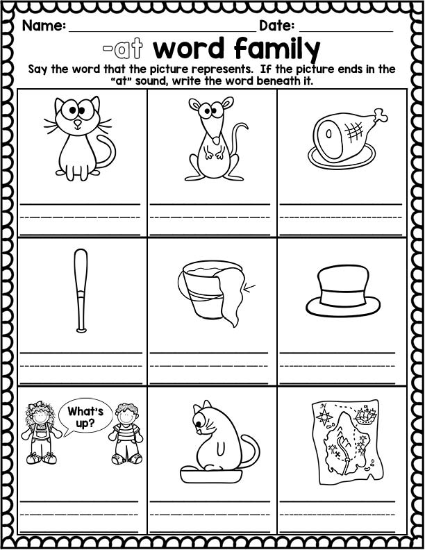 Growing Little Minds: Working with Word Families