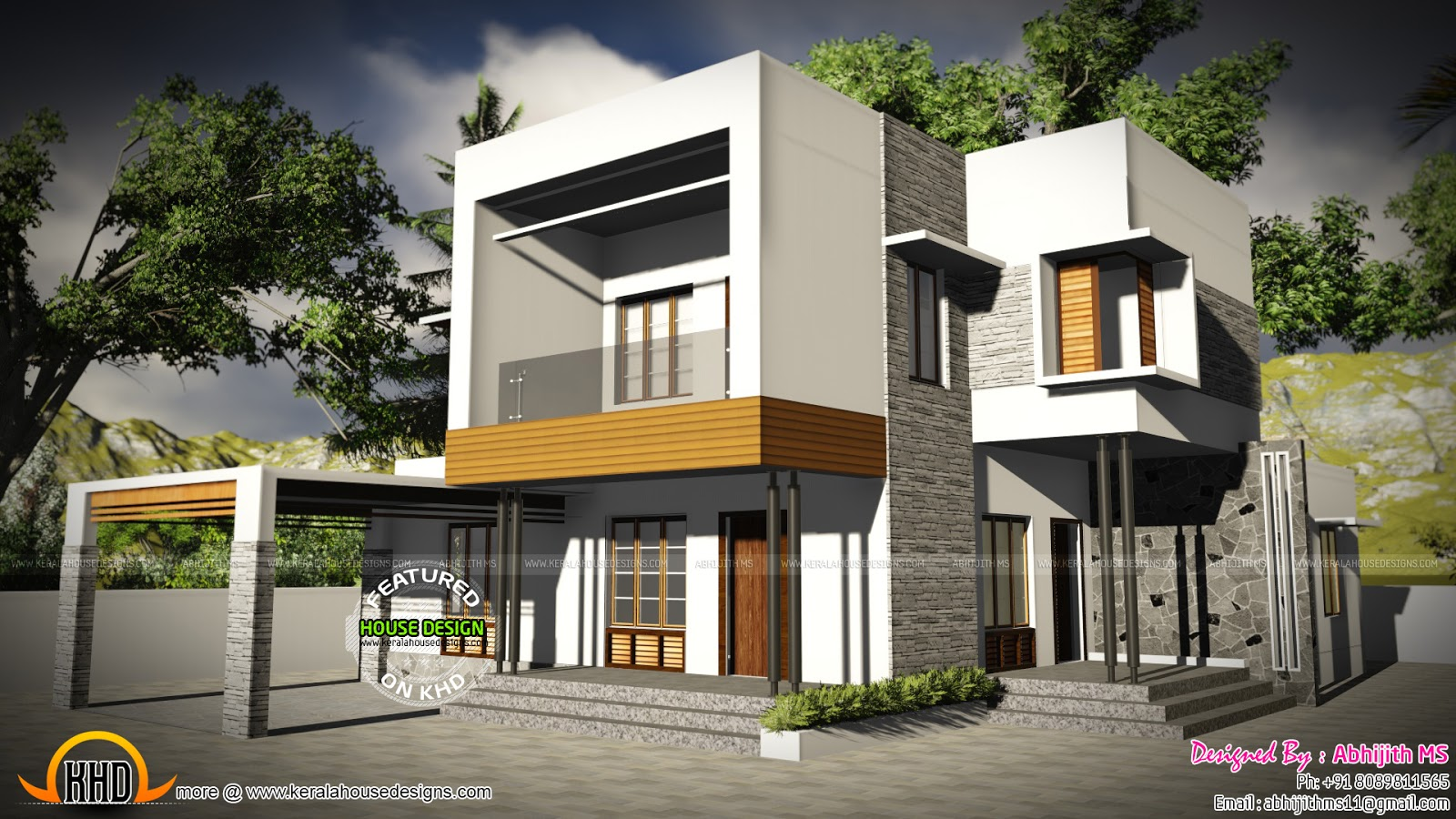 Good 3-BED ROOM CONTEMPORARY HOME Part - 10: 3 Bedroom Contemporary Home By Abhijith MS