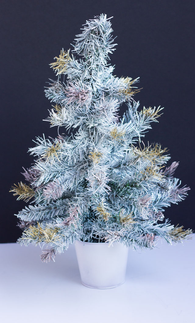 Thrifty DIY: How to Paint an Artifical Christmas Tree | Design ...