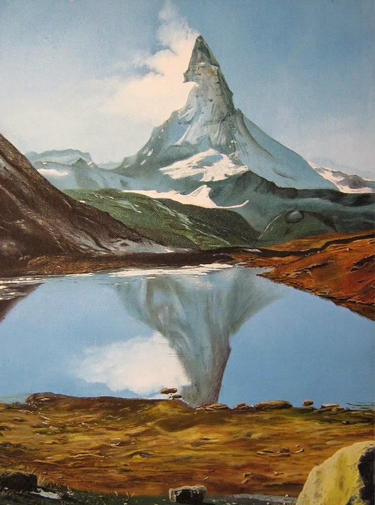paisajes-con-montañas-de-nieve-cuadros-al-oleo