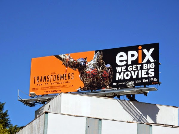 Transformers Age of Extinction Epix billboard
