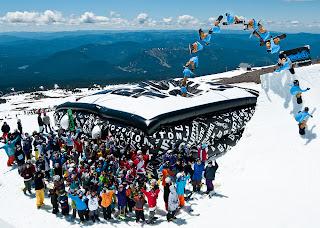 air bag snowboarding skiing