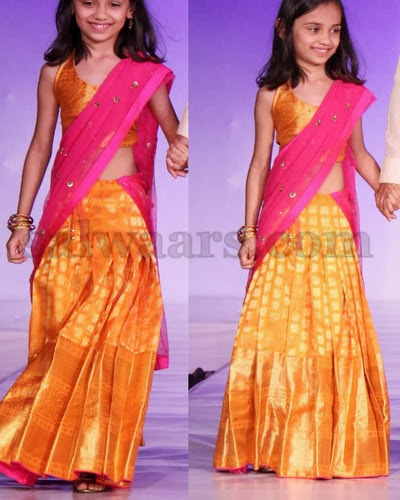 Kanchi Silk Kids Half Saree