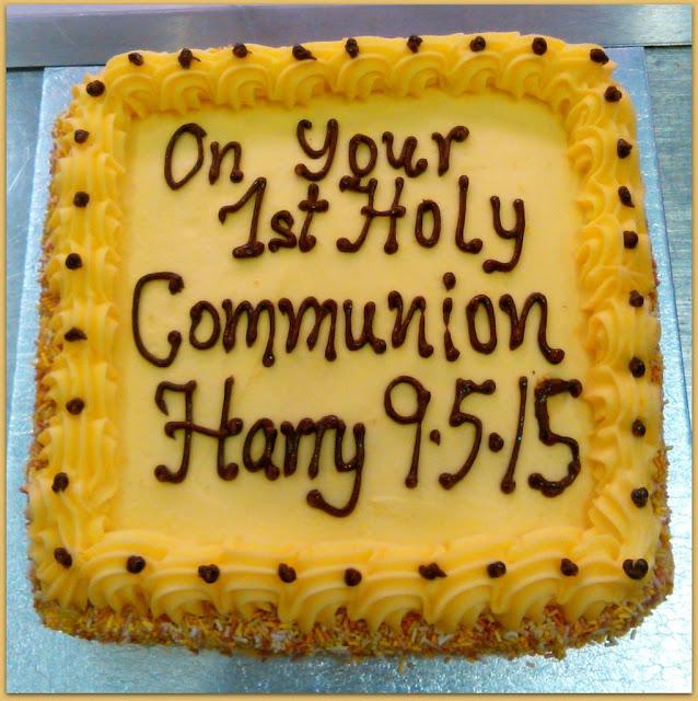 communion lemon buttercream cake