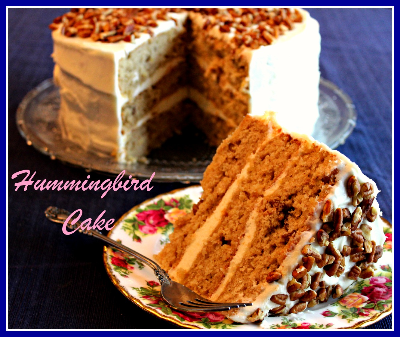 sweet tea and cornbread hummingbird cake