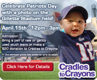 Celebrate Patriots Day with a photo on the Gillette Stadium field!