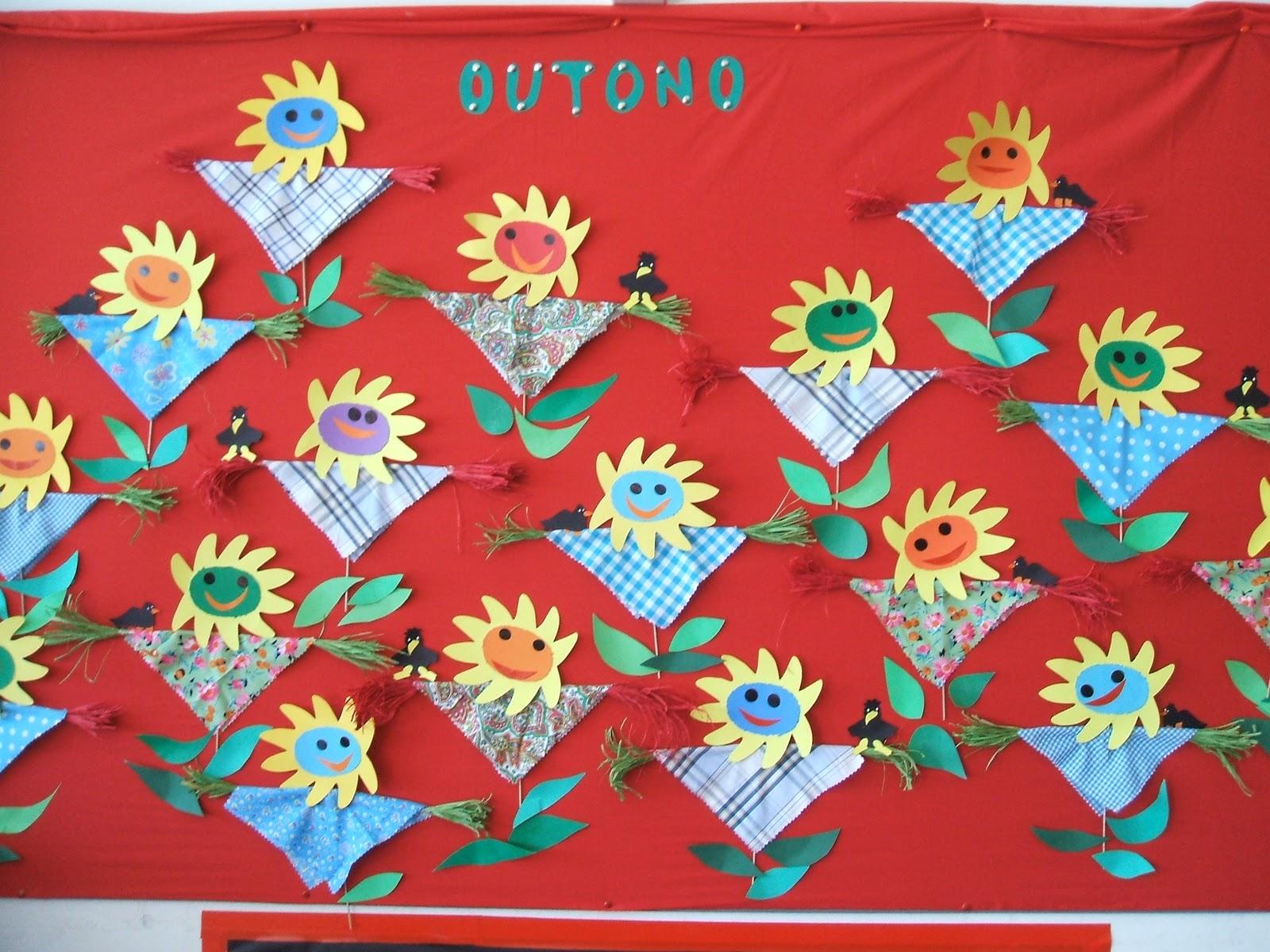 ideias para o outono jardim de infancia : ideias para o outono jardim de infancia: na Areia: Um livro, um painel, no Jardim de Infância de Buarcos