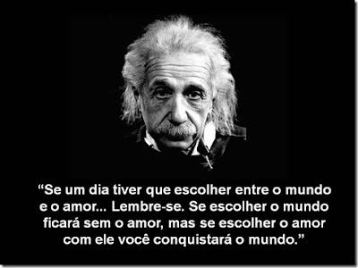 Frase de Einstein sobre amor