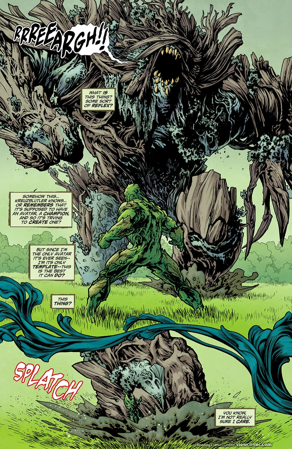Swamp thing 032 2014 reading comics for The thing free online