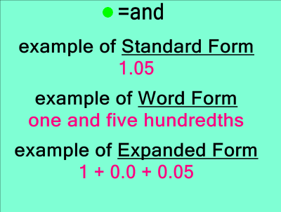 how to write decimals in standard form This video explains standard form: standard form video example write 81 900 000 000 000 in standard form: 81 900 000 000 000 = 819 × 1013 it's 1013 because the decimal point has been moved 13 places to the left to get the number to be 819 example write 0000 001 2 in standard form: 0000 001 2 = 12 × 10-6.