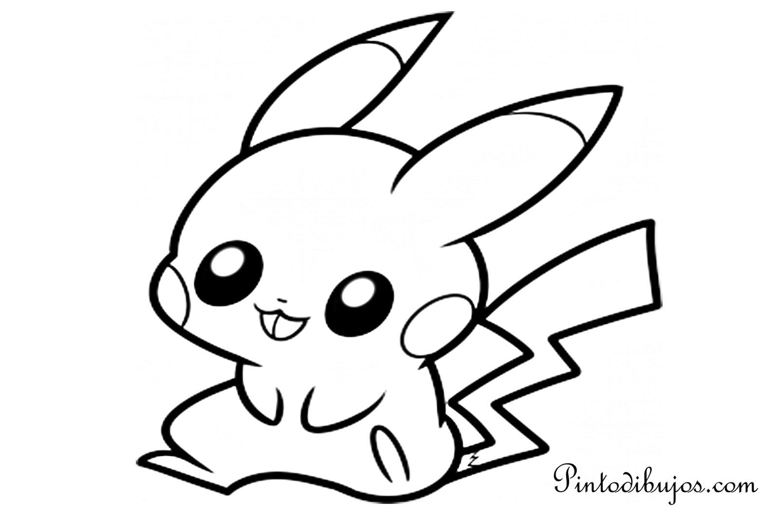 Famoso Lindo Bebé Pikachu Para Colorear Embellecimiento - Dibujos ...
