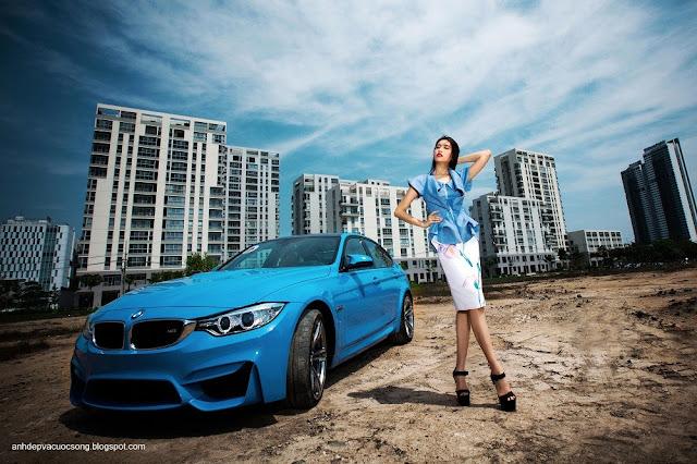 Người đẹp Lệ Hằng gợi cảm cùng BMW M3 2015 1