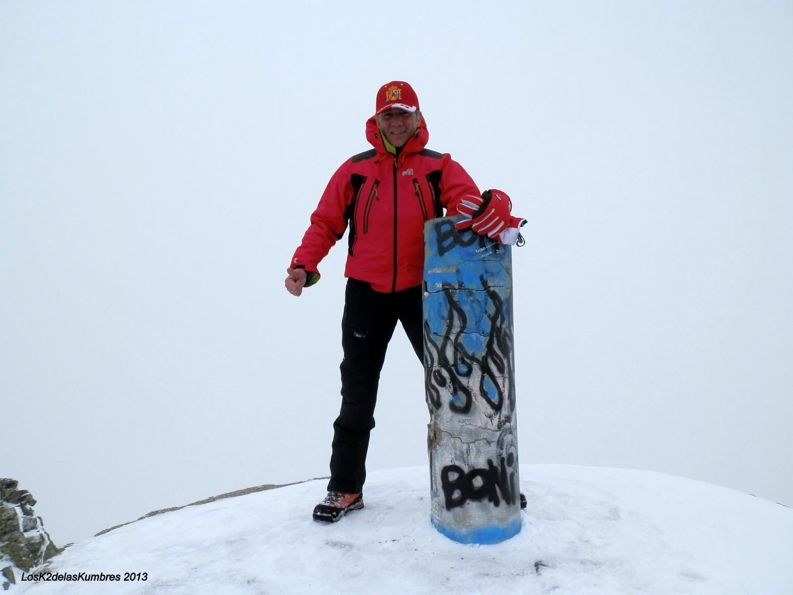Pico del Ocejon, geodesico, Sierra de Ayllon