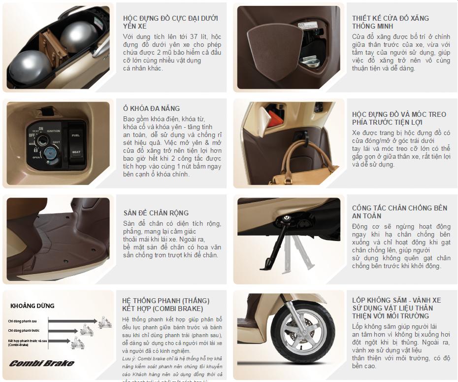 Những tiện ích mà Lead 2015 125cc đem lại