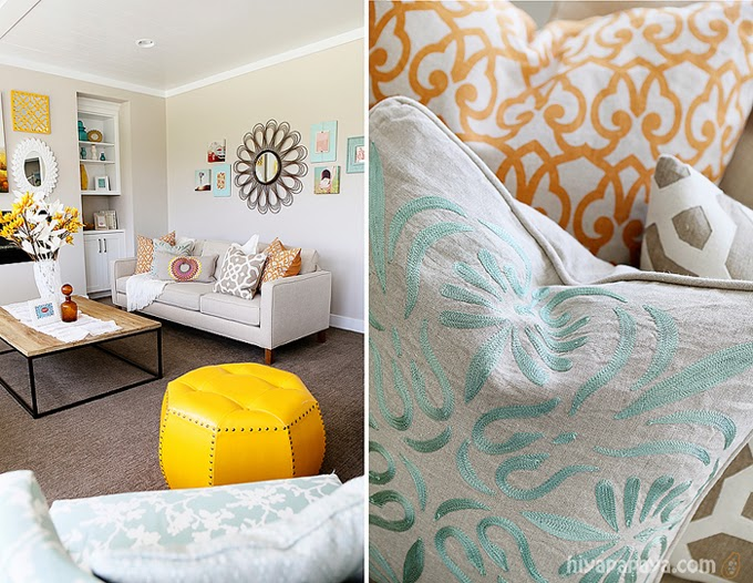 decoracao de sala azul turquesa e amarelo : decoracao de sala azul turquesa e amarelo:Bricolage e Decoração: Decoração de Sala em Amarelo e Turquesa