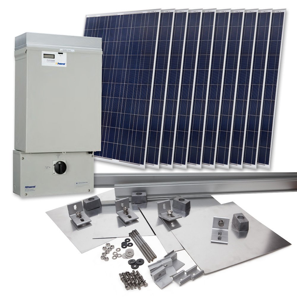 ... grid tied solar power system kit manufactured by grape solar $ 8633 75