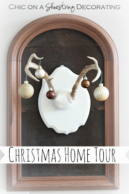 Chic on a Shoestring Decorating Christmas Home Tour