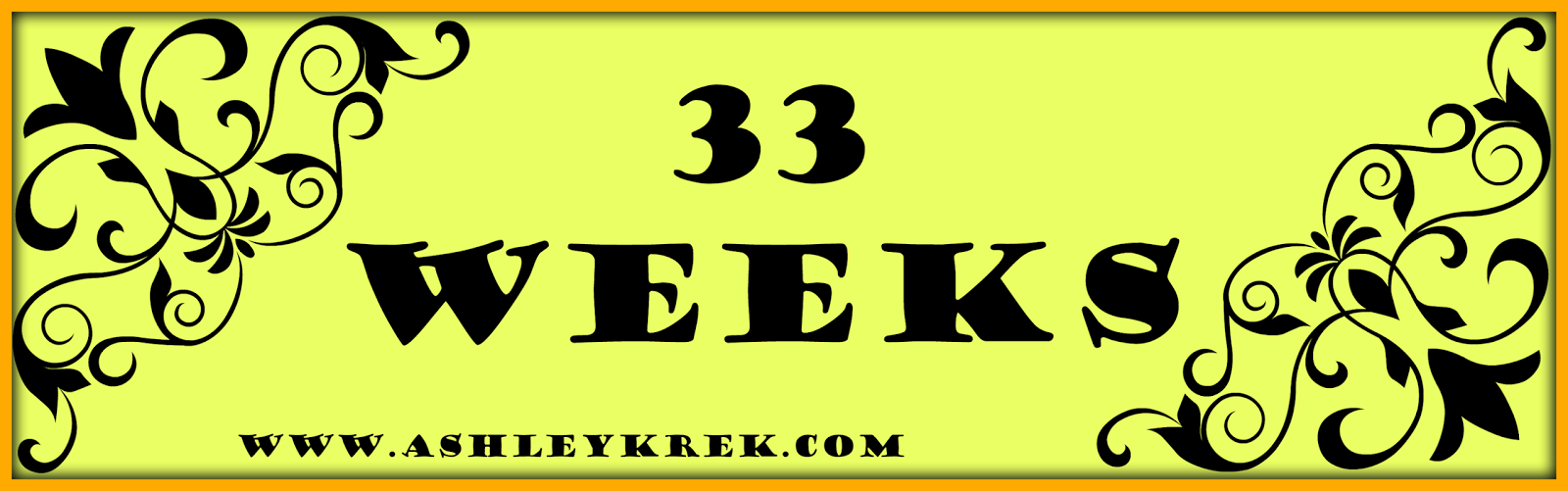 33 week baby bump