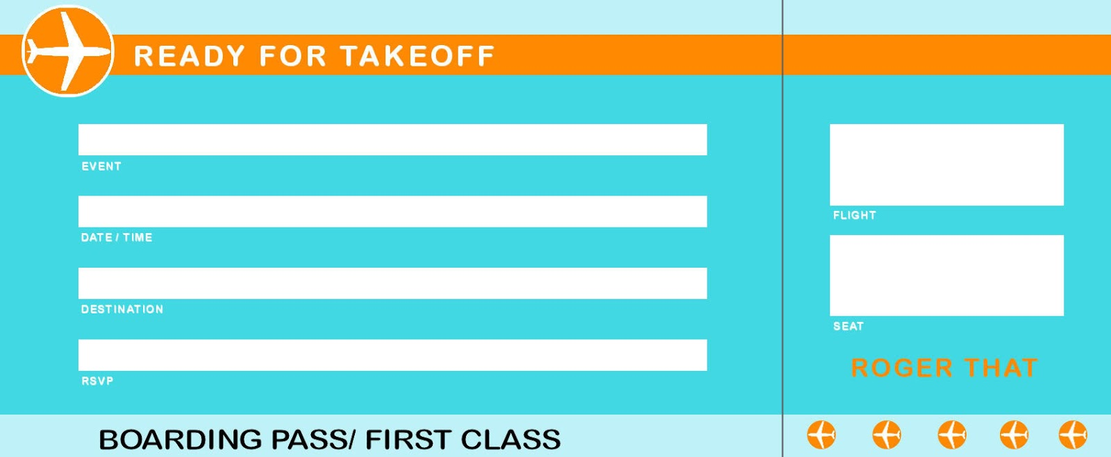 Plane Ticket Template  Airplane Ticket Template