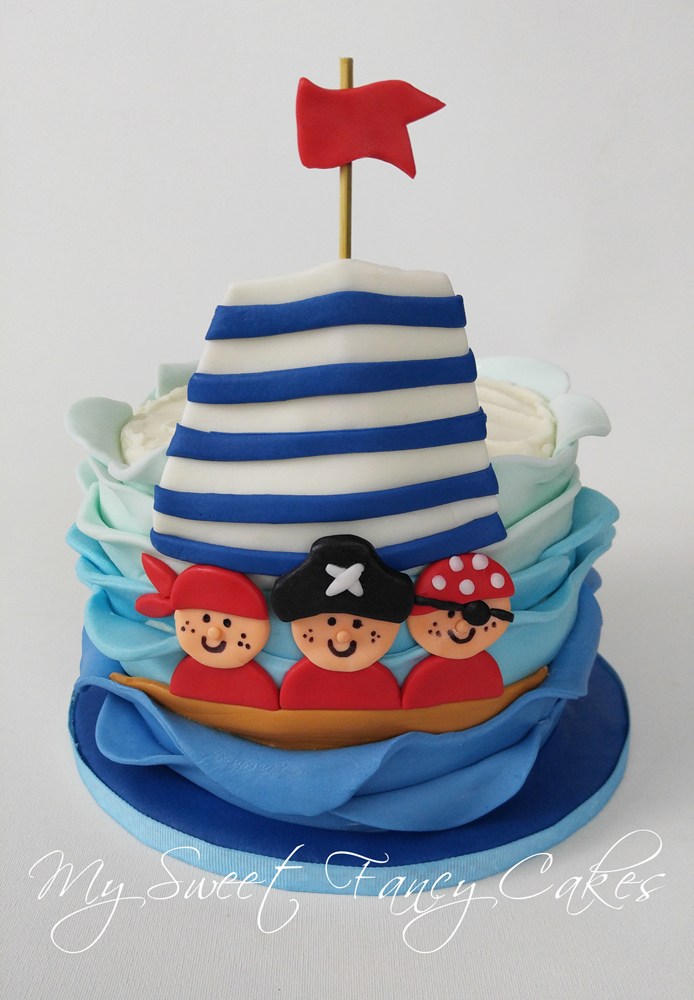 My Sweet Fancy Cakes Pirate Ship Smash Cake