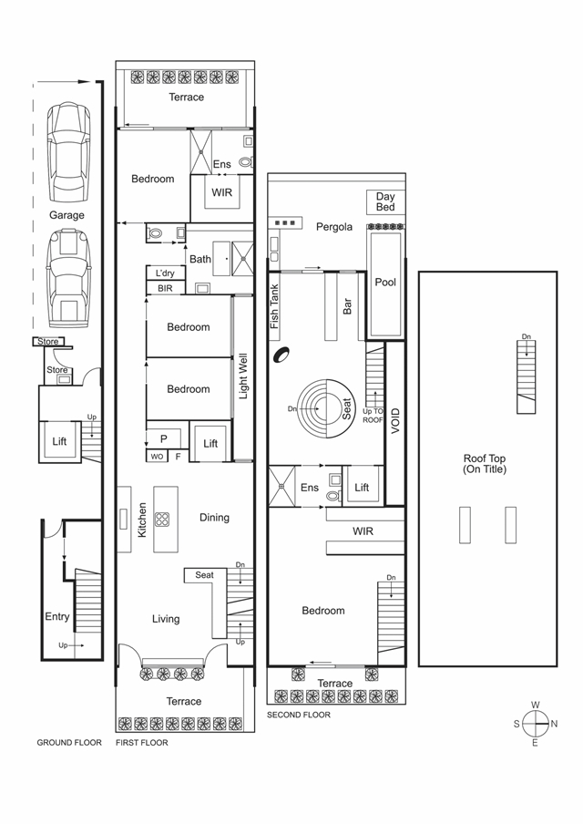 Floor plans of modern Australian home